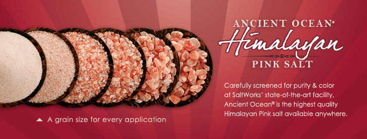 Carefully screened for purity & color at SaltWorks� state-of-the-art facility, Ancient Ocean� is the highest quality Himalayan Pink salt available anywhere.